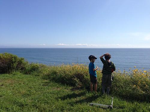 Ezra and Jack enjoy the view