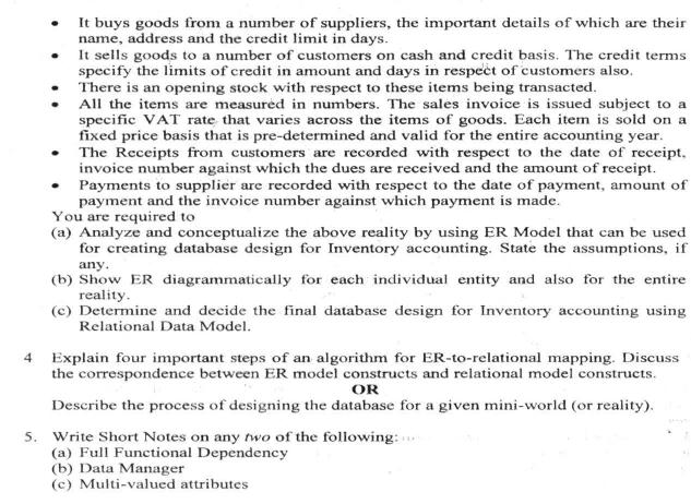 DU SOL: B.Com. (Hons.) Programme Question Paper - Business Information System - Paper XXXVI