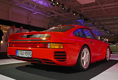 automobile, automotive exterior, wheel, vehicle, automotive design, porsche, auto show, bumper, porsche 959, land vehicle, luxury vehicle, supercar, sports car,