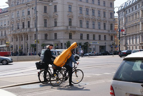Cello by bike