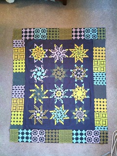"A ""stack and whack"" star quilt"