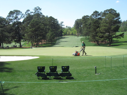 Mowing the greens, Augusta National Golf Club
