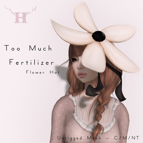 Little/Big Hunt Prize - 'Too Much Fertilizer' Flower Hat by Halogen Magic (Half-Deer)