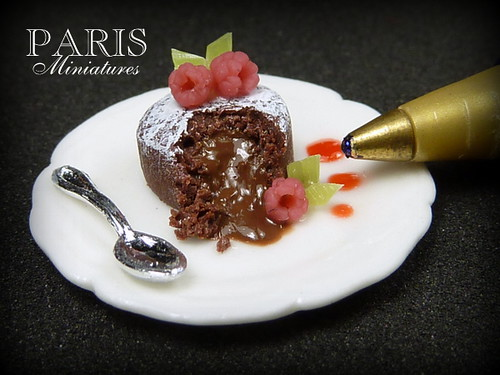 Chocolate Fondant Cake - Miniature Food