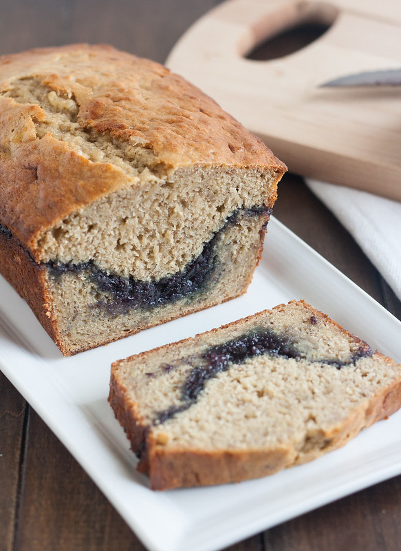 Blueberry Swirl Banana Bread