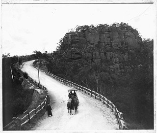 Soldiers Gap on the newly completed section of highway at Mt Victoria.