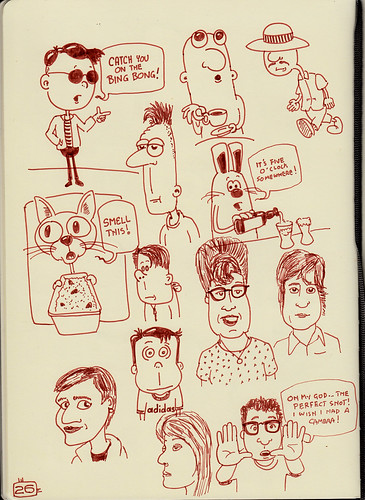 More cartoons and doodles from the sketchbook