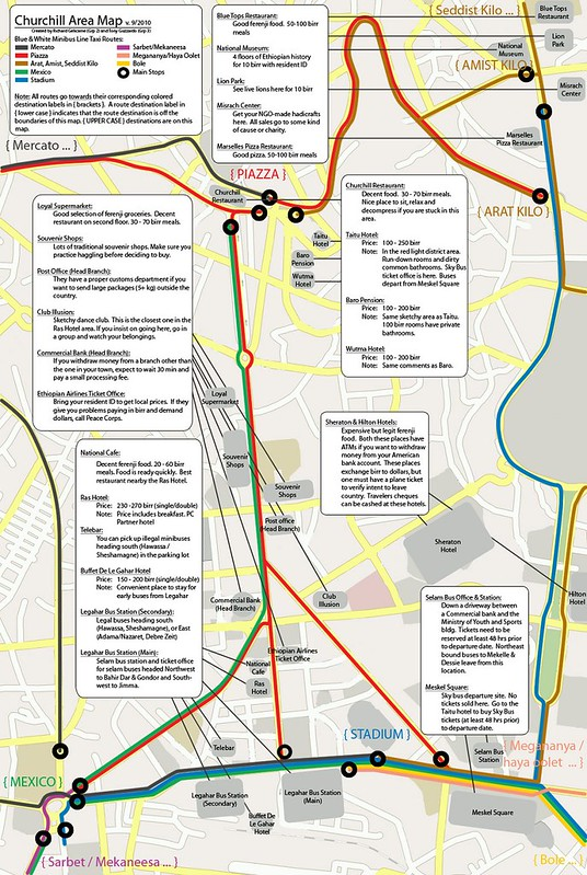 Tourist Map of Addis Ababa