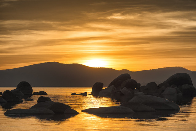 Sand Harbor Lake Tahoe Sunset