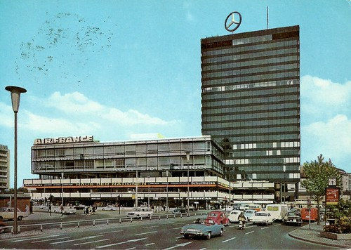 Europa Center in the 60s in West-Berlin from a postcard