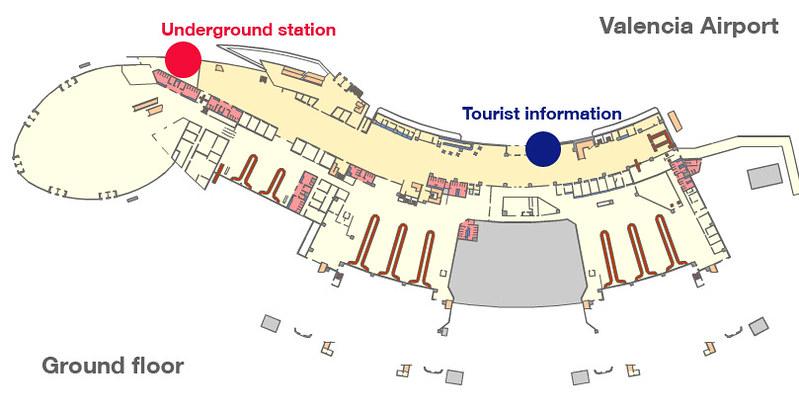 Mapa aeroporto Valencia