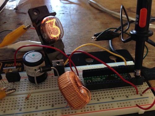 USB powered Nixie, now with dimming