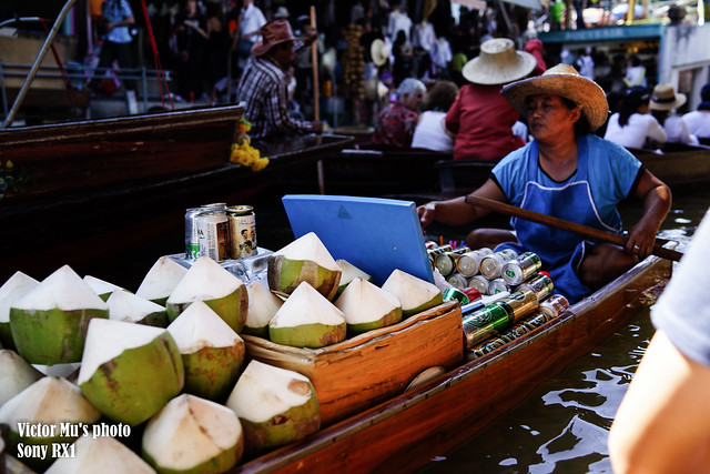 the floating market -- Bangkok