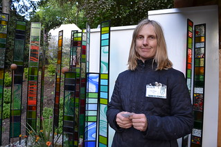 Sarah Hayhoe of Garden Glass at RHS Chelsea