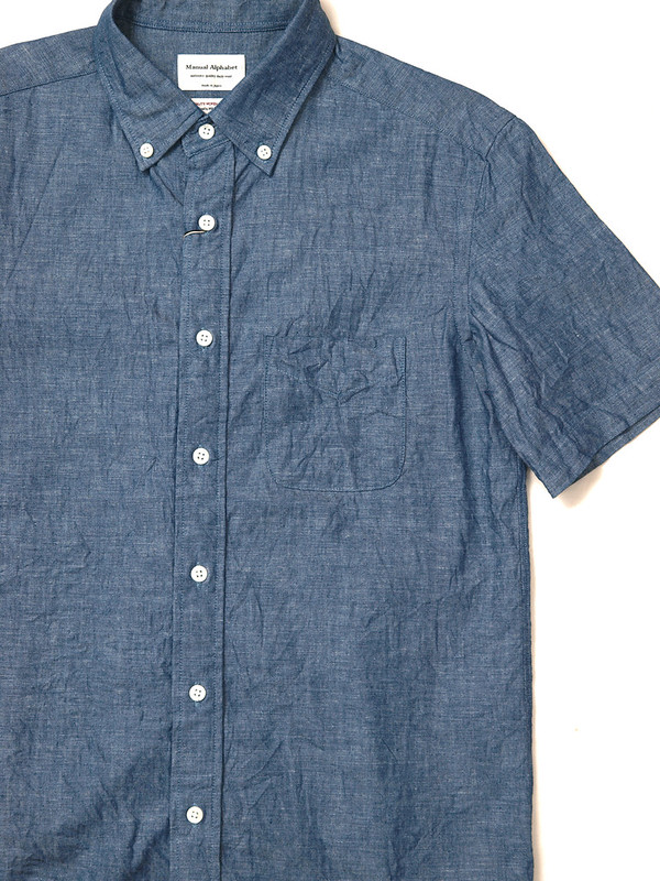 Manual Alphabet / Chambray S/S B.D Shirt