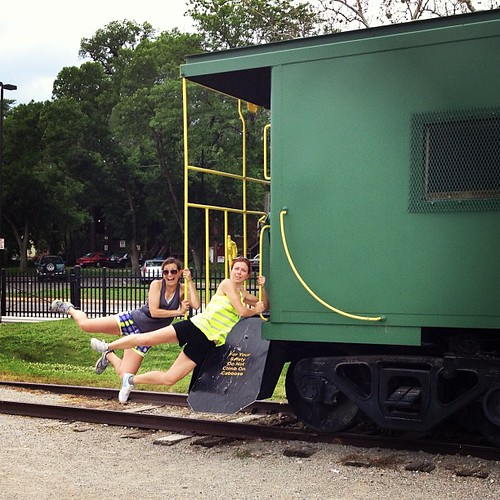 Nearly missed the train today. #katytrail
