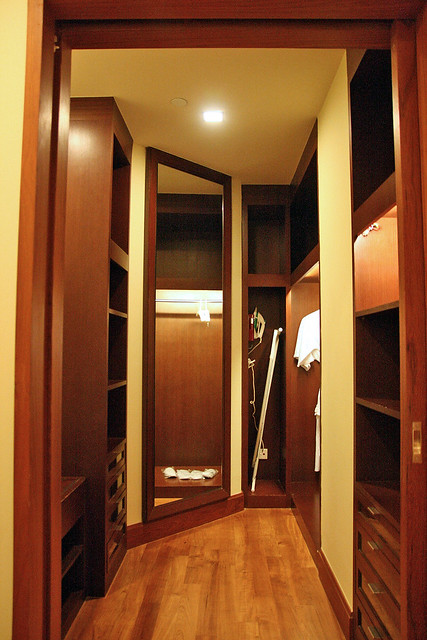 The walk-in wardrobe at the Premier Suite