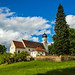 Idyllic Bavaria by the cemetery wall by werner boehm *