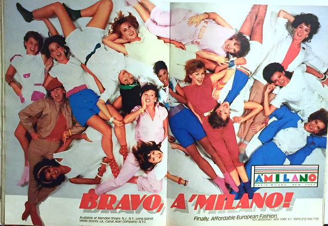 A'Milano European fashion ad 1985
