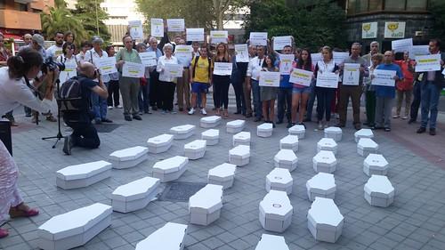 22.9.2016 Vigilia ante el abortorio Dator en Madrid