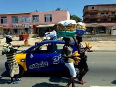 Women street hawking plantain chips in Accra, Ghana. #JujuFilms