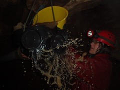 Peter bailing the Mud Sump Image