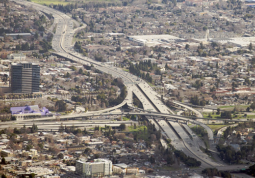 Above intersection of Highways 280 and 87, San Jose, California
