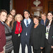 writer/actor BJ Novak posing with attendees of corporate event