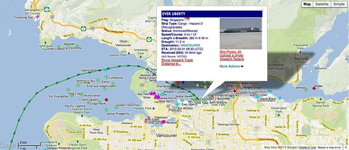 Our container arrived in Vancouver on board the Ever Uberty