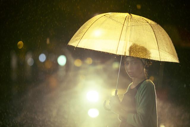 Girl with Umbrella - Cinematic Street Photography