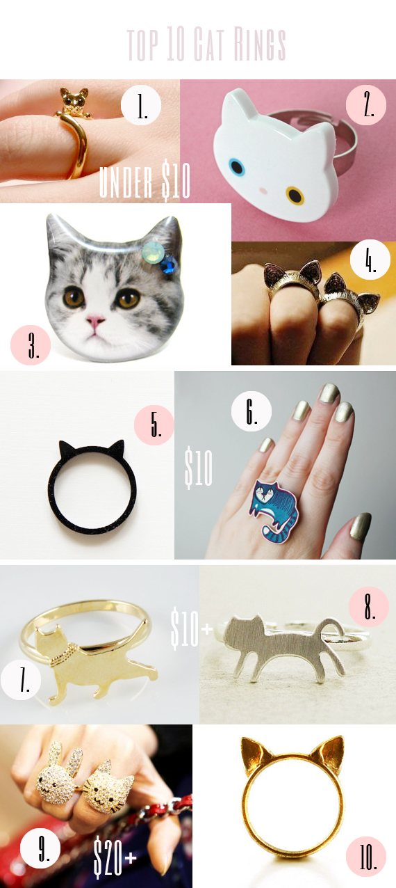 top 10 cat rings