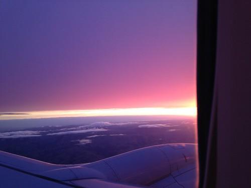 sunrise sfo lax windowseat