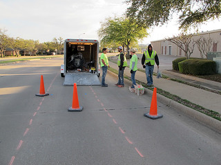 Bike Lanes In Richardson - Paint Crew