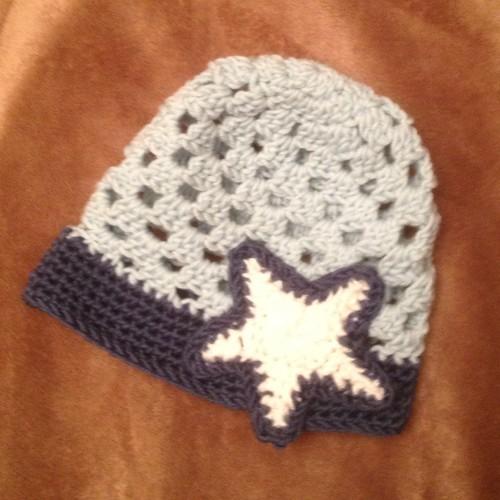 My first crochet baby hat :-)