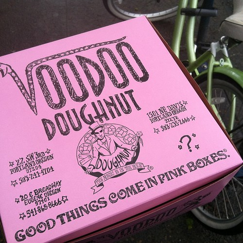 Inside this box lies a donut called a vegan cock 'n balls. @ipinkgirl