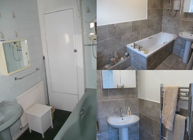 bathroom before and after renovation