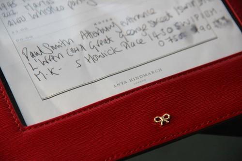 Anya Hindmarch bespoke fashion week wallet