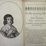 Portrait of Charles II engraved in 1642