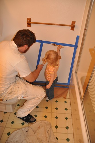 Helping Uncle Jesse Paint