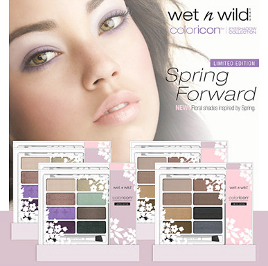 Wet n Wild promotional display for Spring 2013 Limited Edition eyeshadow palettes in nudes and pastels