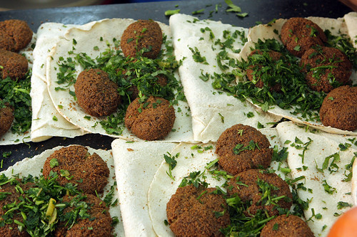 falafel and herbs