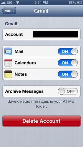 How To Enable Delete Button in iPhone or iPad's Mail Program For Gmail?