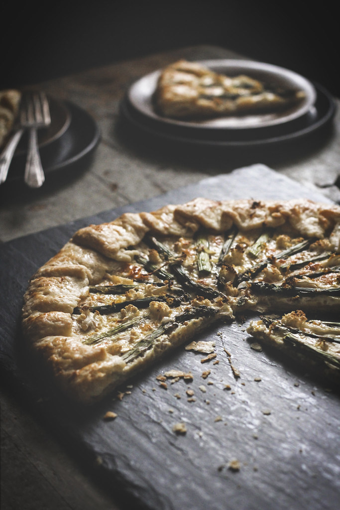 Asparagus, Cauliflower, & Greek Yoghurt Custard Galette