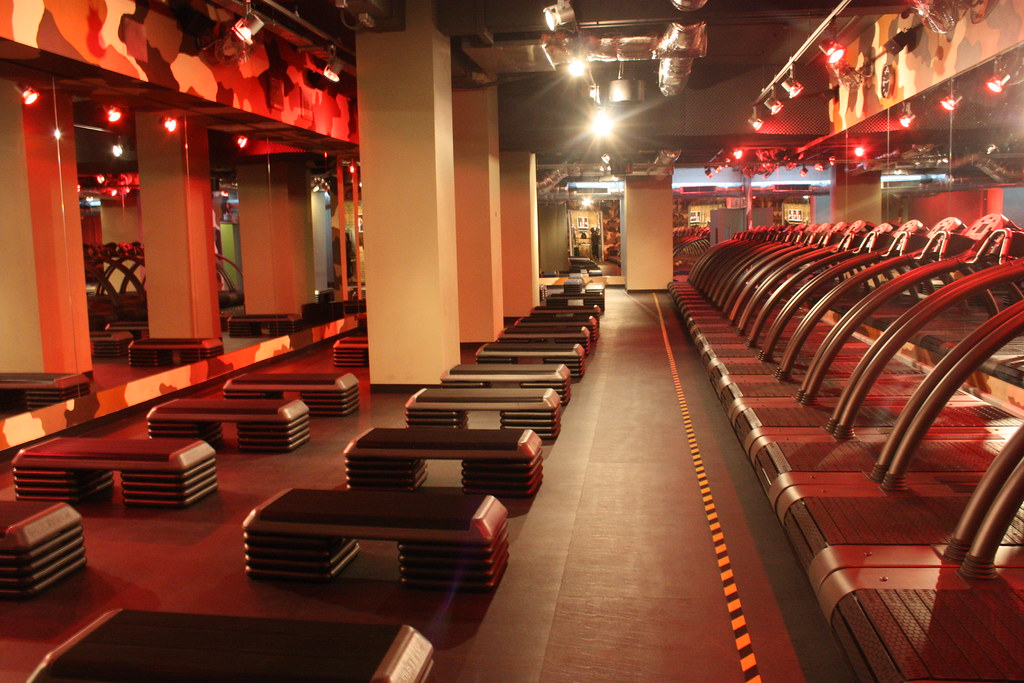 Barry's Bootcamp London UK Studio - up lighting