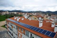 Vista aèria de les plaques solars d'Espai Zero. Foto: Wattia Innova.