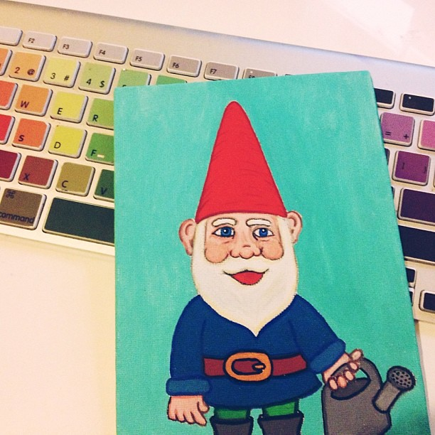 Painted a gnome.