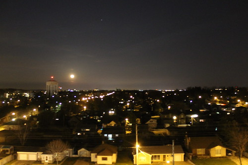 Full moon over Guelph by Royal_Rivers