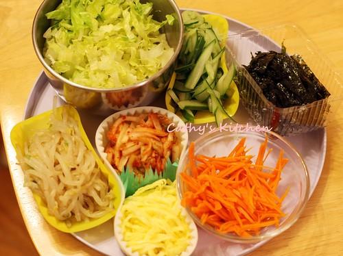 韓式泡菜豬肉拌飯  BiBimBap 8