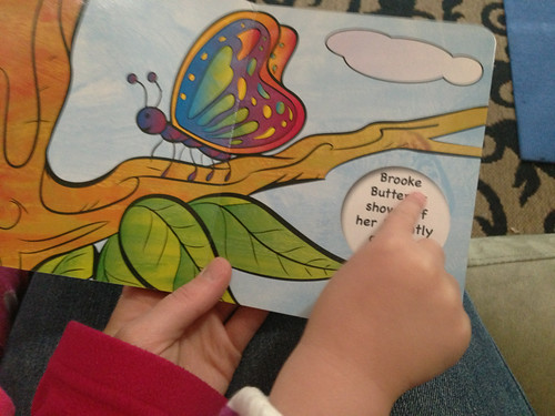 "I asked her to point out the word ""butterfly"" on every page"
