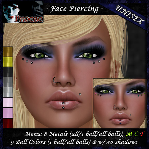*P* Unisex Face Piercing B3 ~8 Metals-9 Colors~
